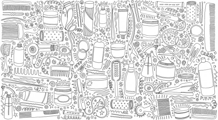Illustrator Andrea Pippins celebrates cool coils with 'I Love My Hair' Colouring Book